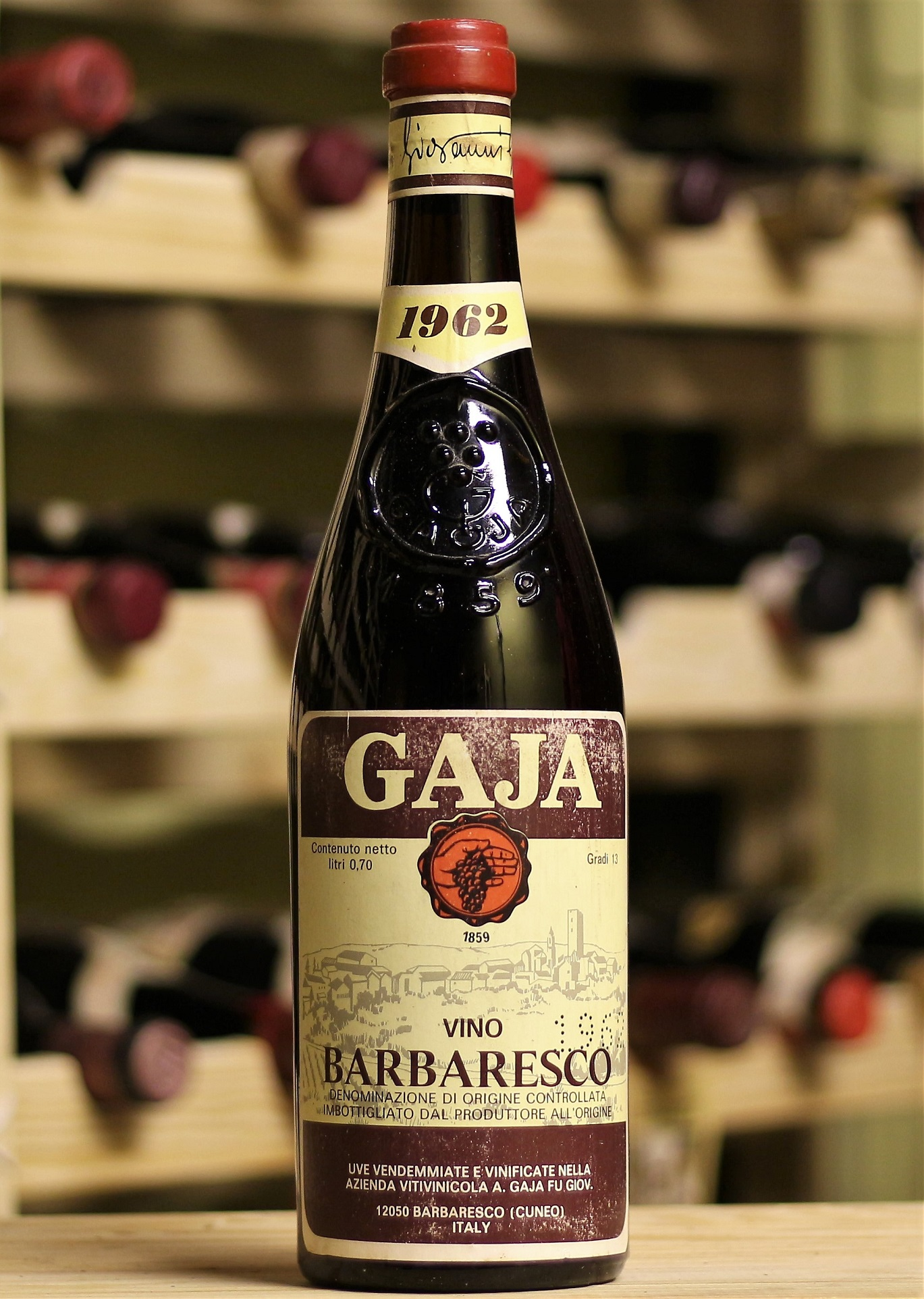 Купить вино Gaja Barbaresco 1962 года урожая
