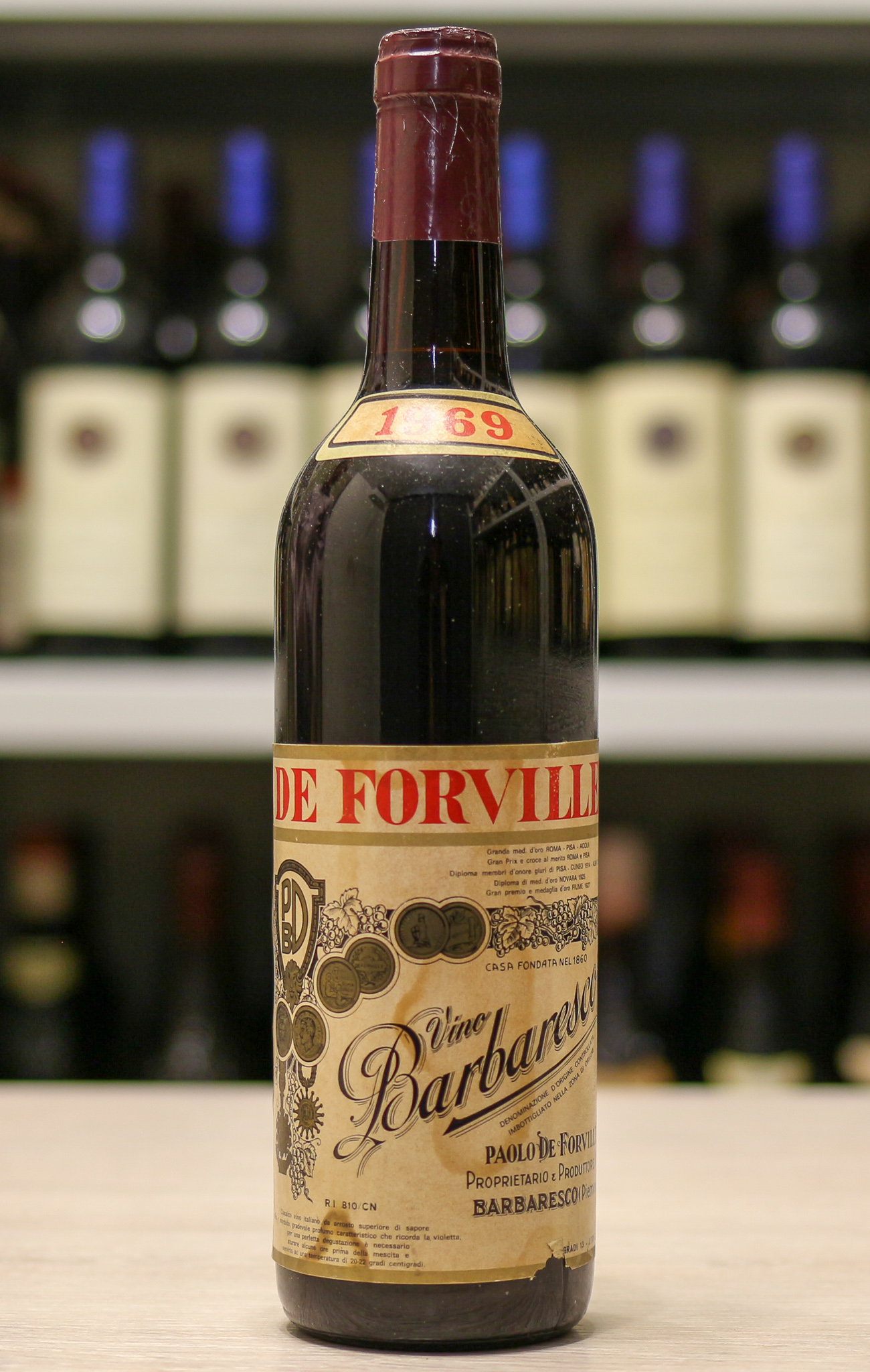 Вино Barbaresco De Forville 1969 года урожая