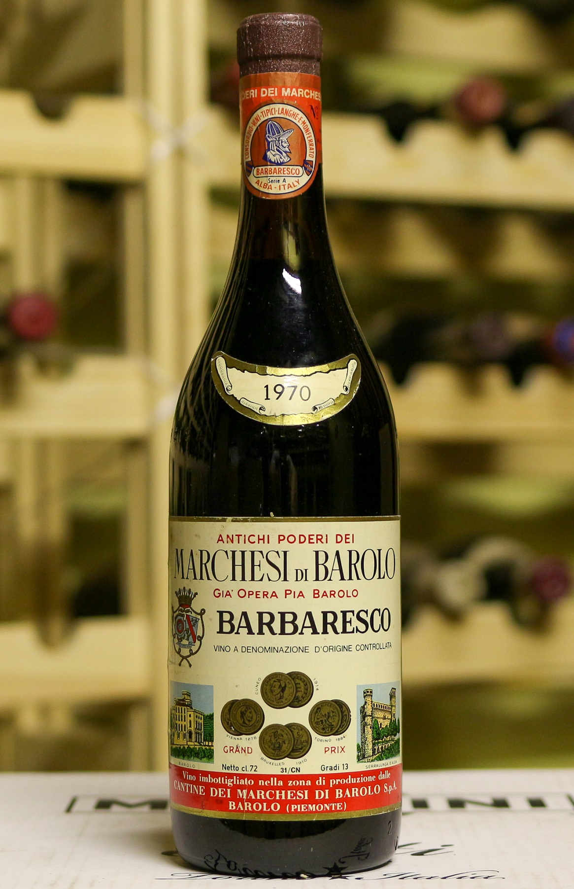 Вино Barbaresco Marchesi di Barolo 1970 года урожая