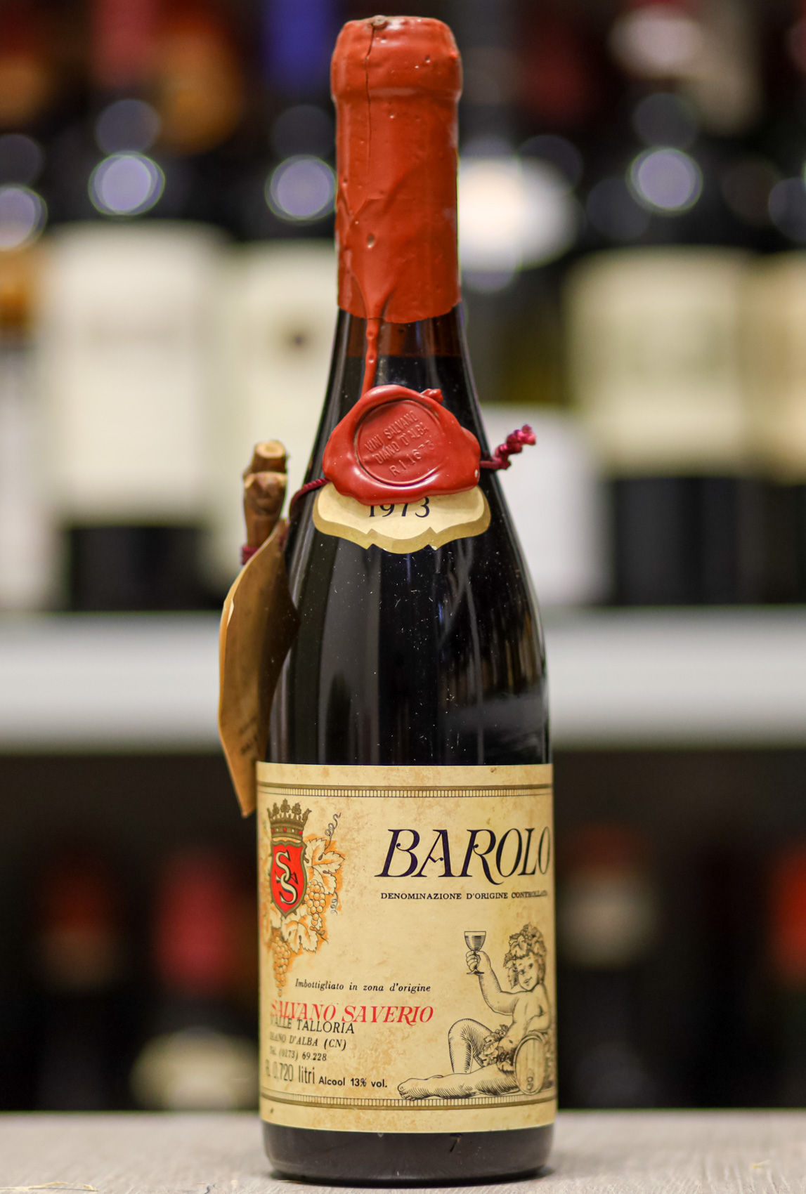 Вино Barolo Salvano Saverio 1973 года урожая