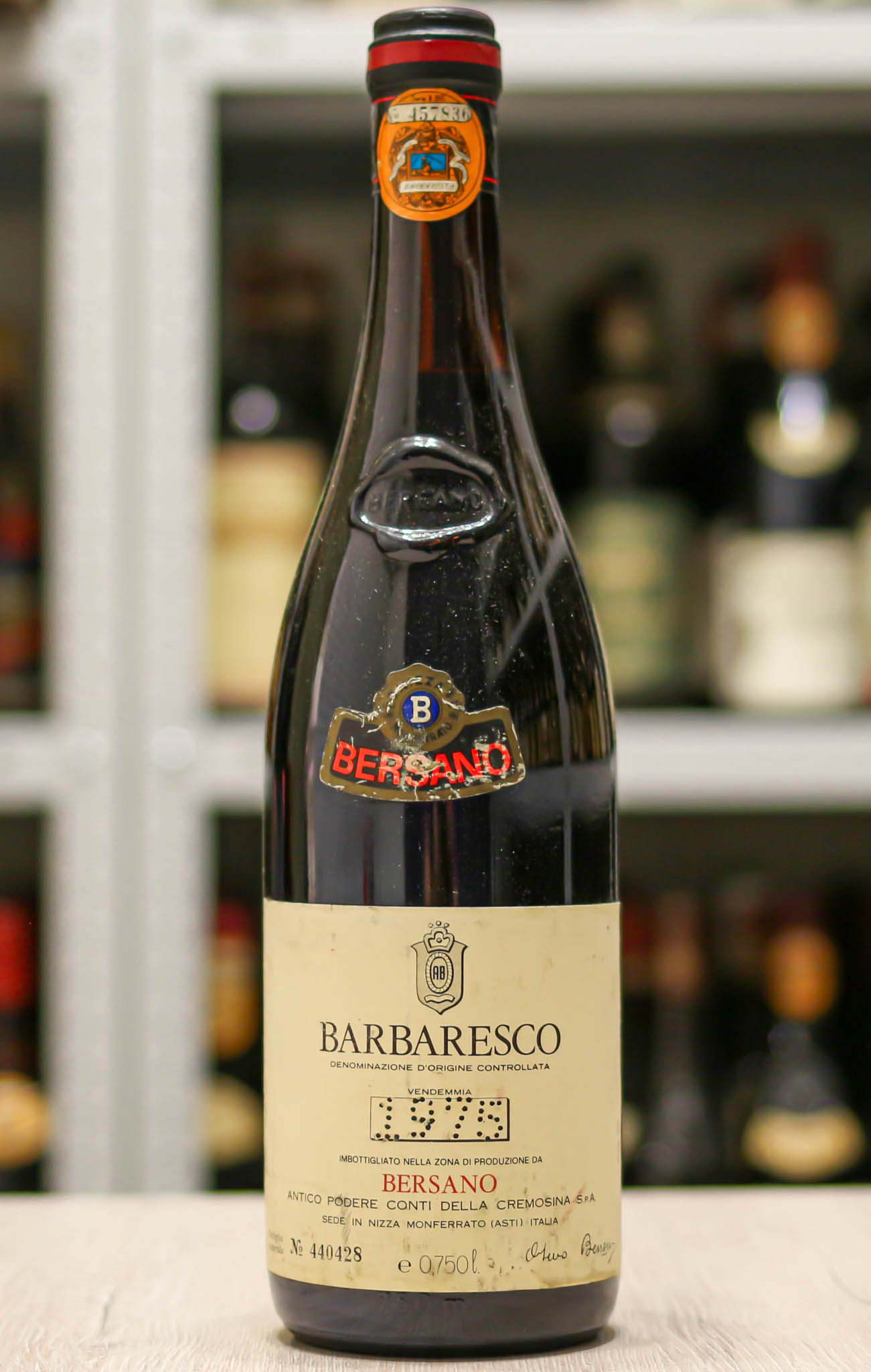 Красное вино Barbaresco Bersano урожая 1975 года