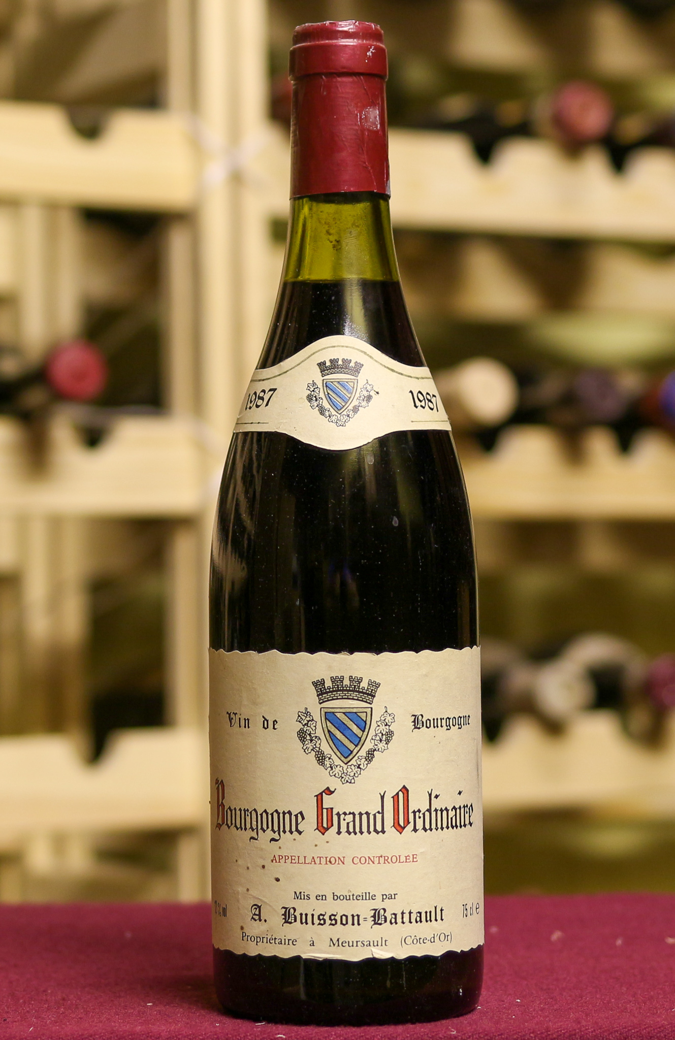 Вино Bourgogne Grand Ordinaire A. Buisson Battault 1987 года урожая